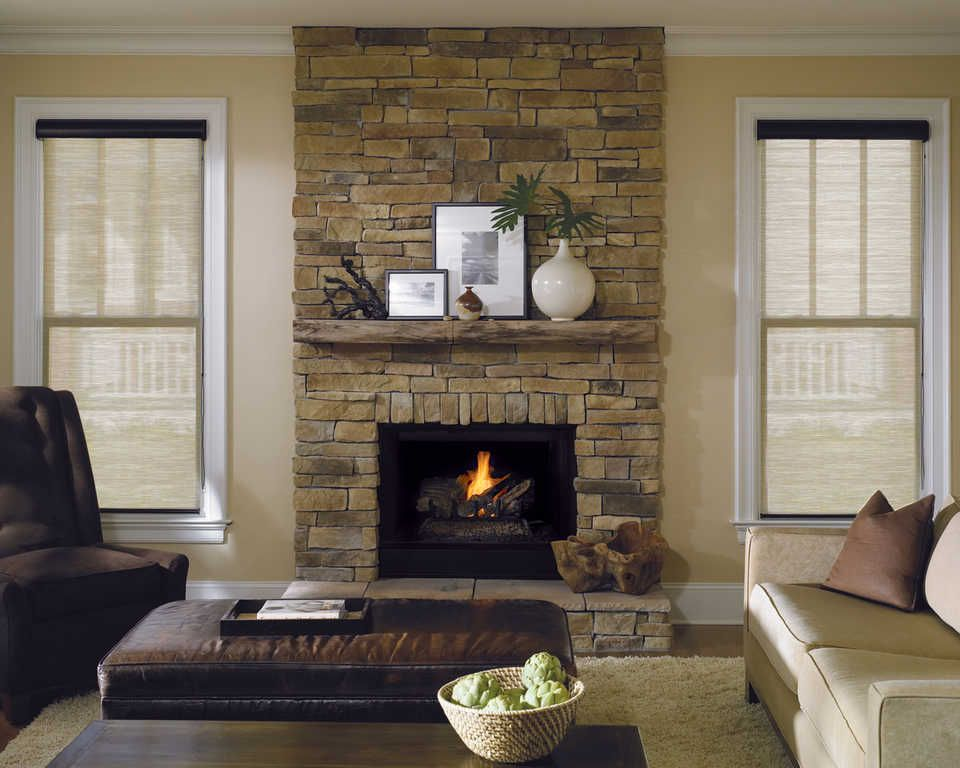 Fireplaces With Windows On Both Sides Look More Open When