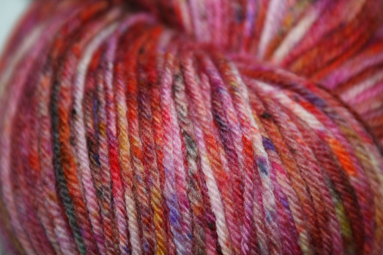 100g, Merino, Cashmere, Nylon, sock yarn, 4 ply, fingering weight,  Speckle dyed. pink, black, orange, purple. by AngiesStudioYarn on Etsy