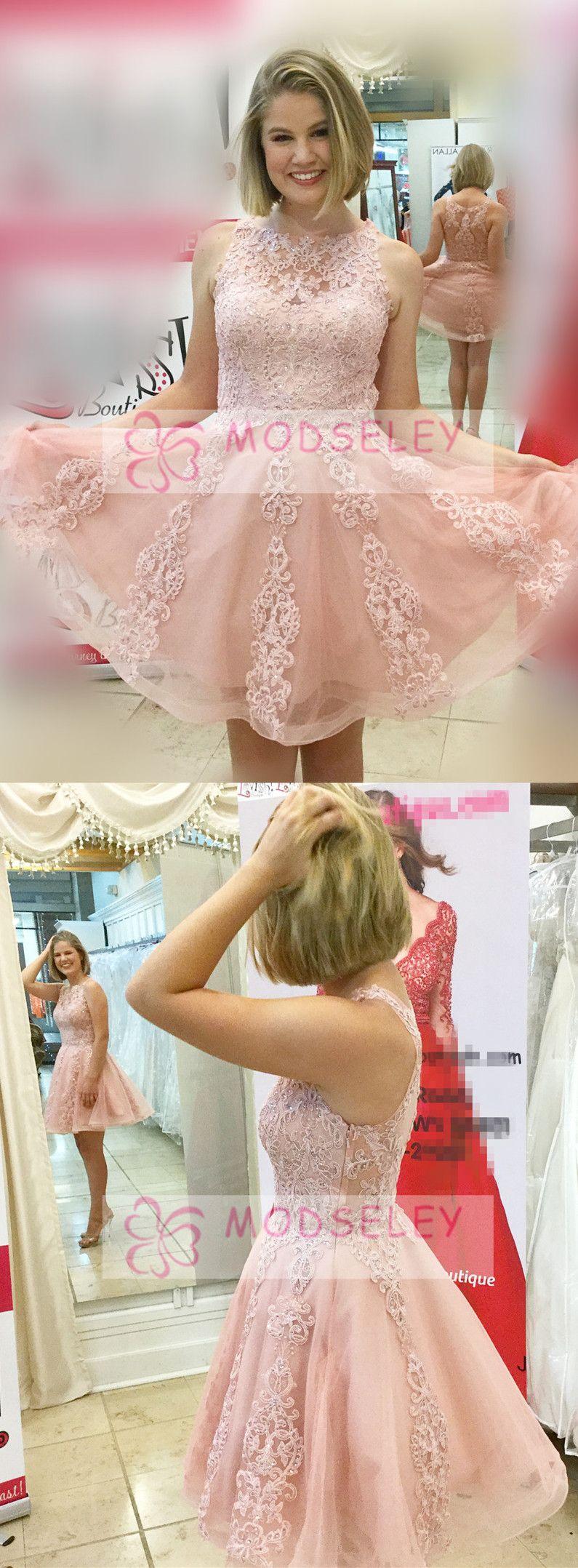 Princess short pink lace homecoming dresses short homecoming
