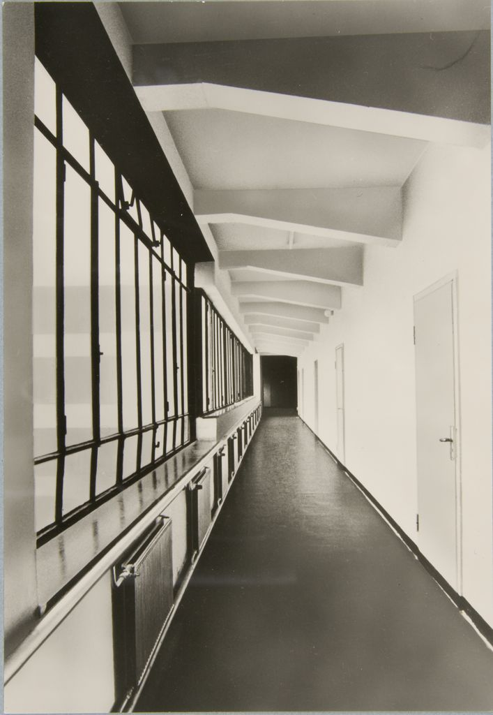 Hallway inside the Bauhaus Building in Dessau, 19251926