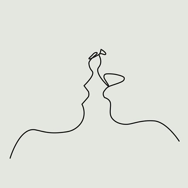 Line Drawing Kiss : One line kiss by michelrijk a r t i s in