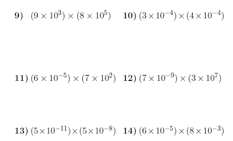 Multiplying In Standard Form Worksheet With Solutions A Worksheet