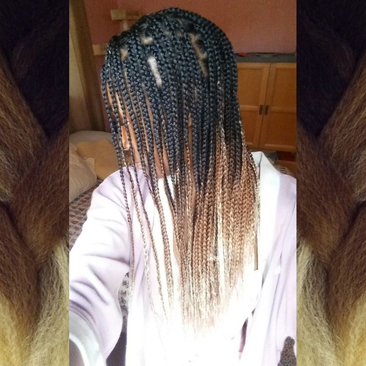 Rastafri Highlight Braid In Action Alyssa Used Latte Aka 3t1b 30 613 For Her Braids Auburn Hair Braids Hair Styles