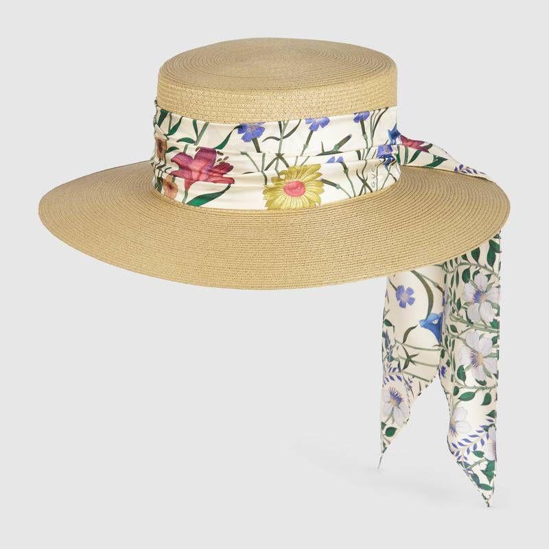 ultima vendita qualità eccellente super economico rispetto a Gucci Cappello in paglia con nastro New Flora | Botticelli ...