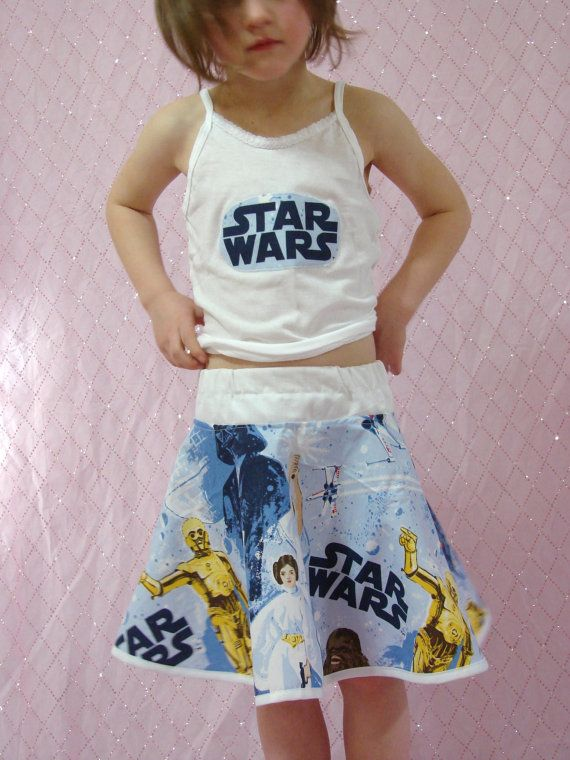 Custom Boutique Skirt Made With Star Wars Fabric 2 7