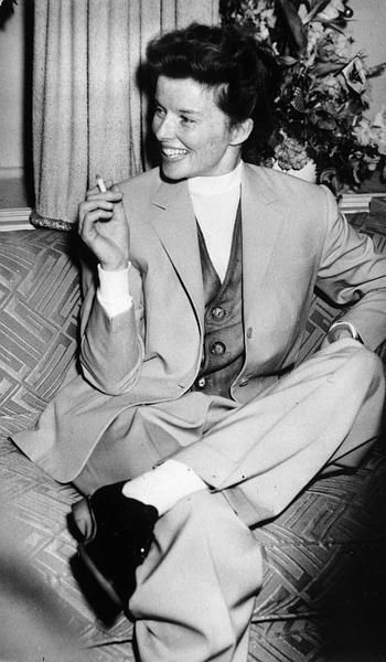 Always and forever, Katharine Hepburn is the ultimate in trouser style inspiration.