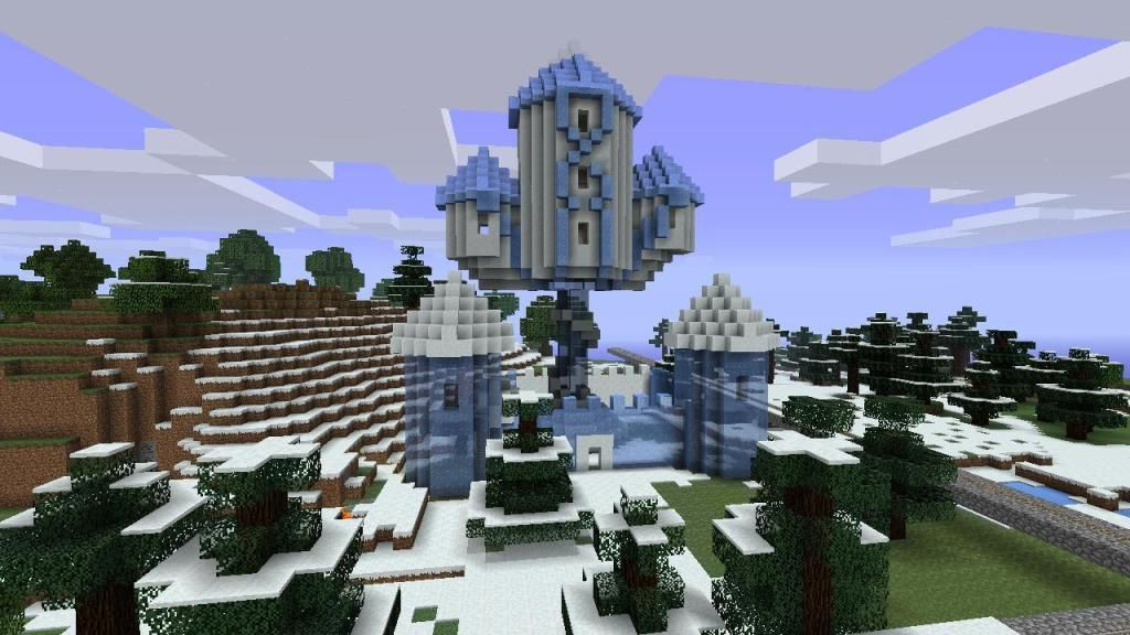 Snow And Ice Palace Mcx360 Show Your Creation Minecraft Xbox 360 Edition Minecraft Forum Ice Palace Snow Castle Snow And Ice
