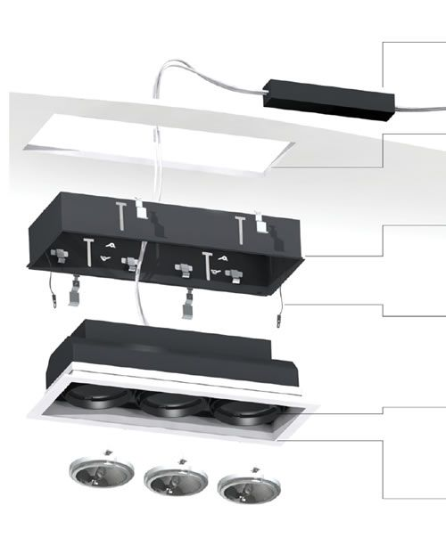 Eurofase Multiple Trimless Recessed Lighting Installation