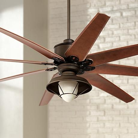 72 Predator Bronze Outdoor Ceiling Fan With Light Kit Ceiling