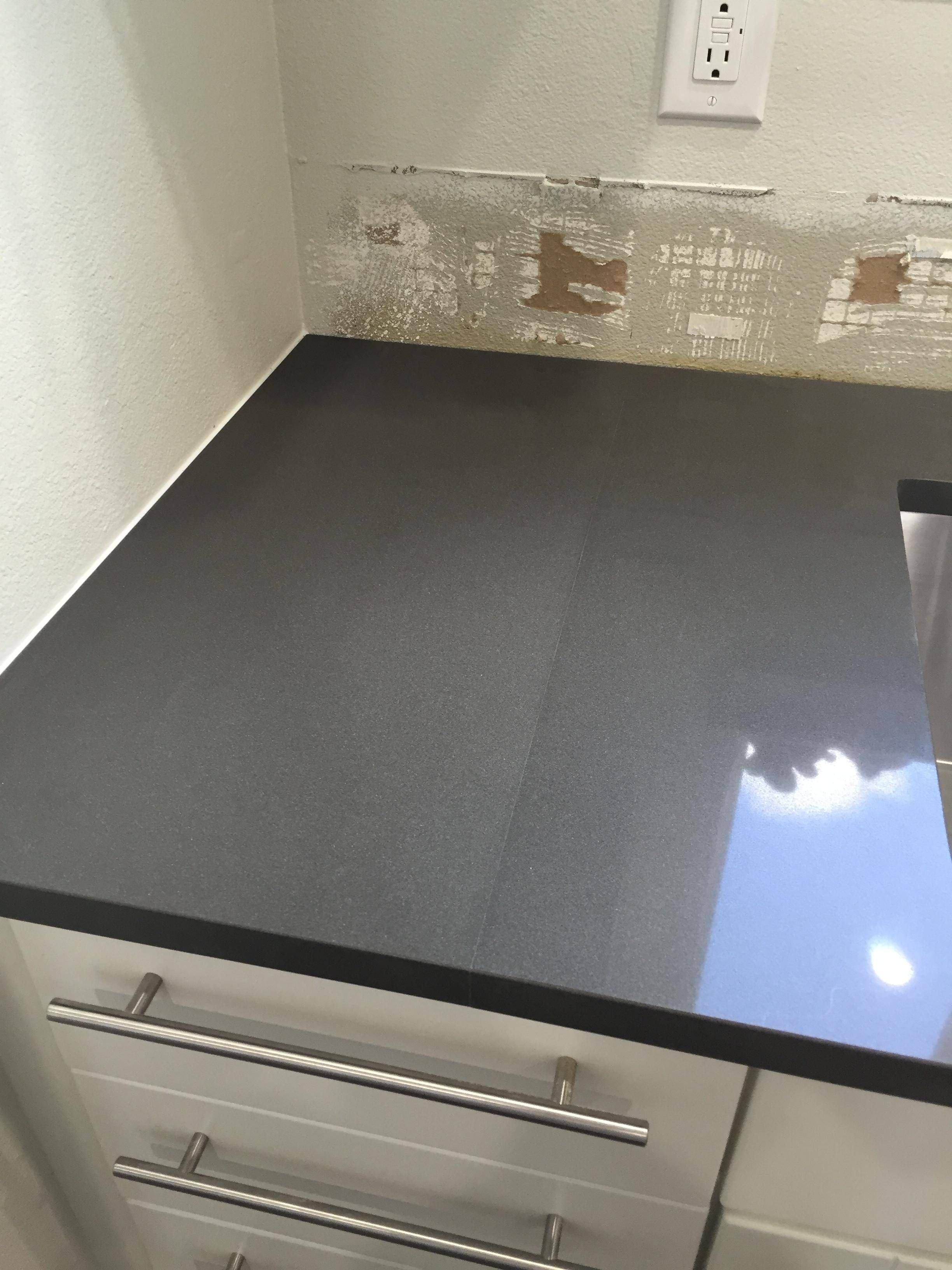 Wall And Counter Seams Kitchen Countertop In 2019