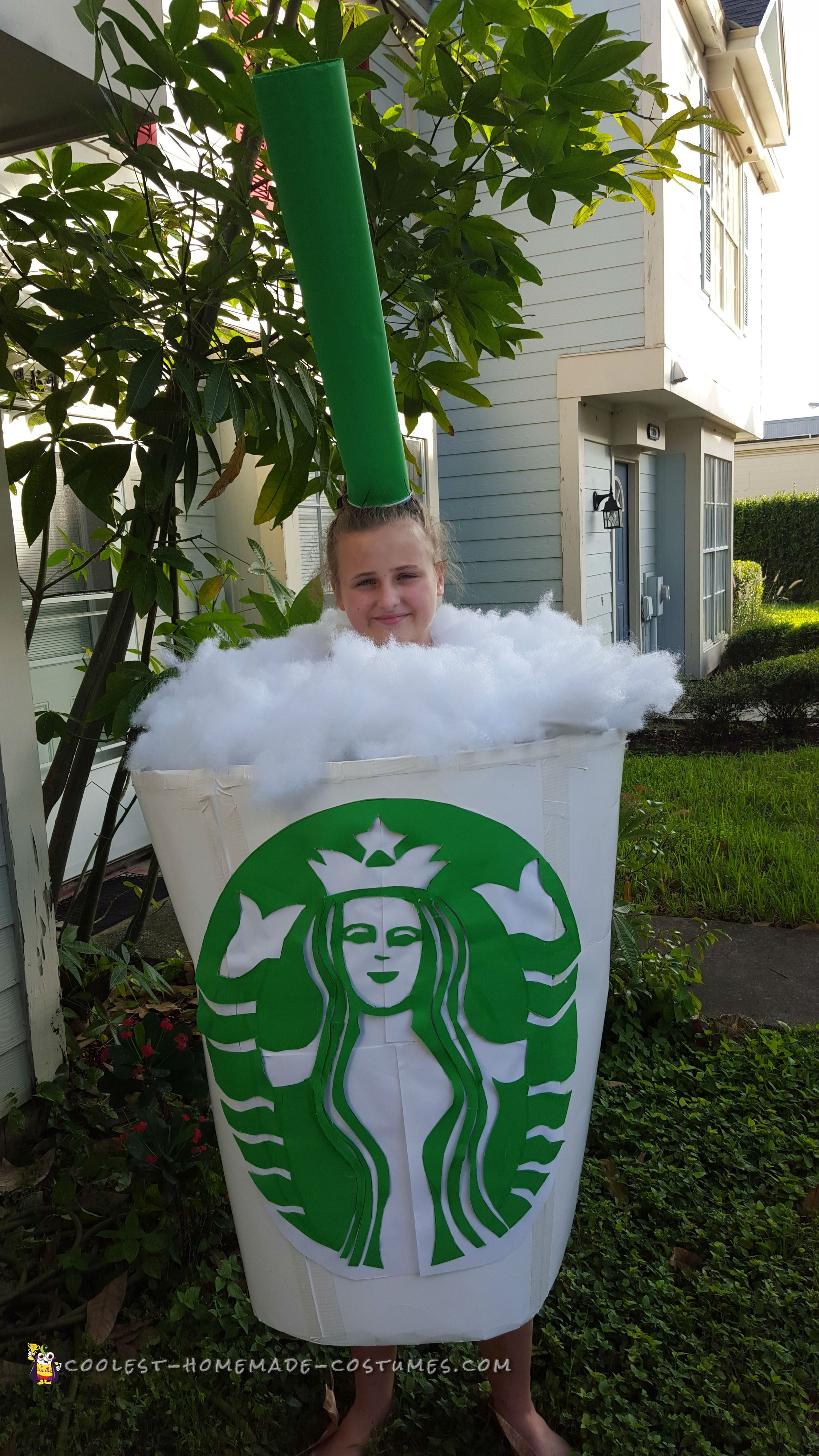 Coolest Starbucks Giant Cup 1st Place Costume... Coolest