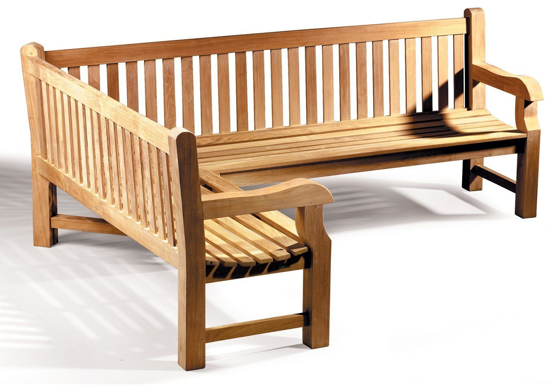 Gladstone Teak Embled Wooden Corner Garden Bench Left Orientation Co Uk Outdoors