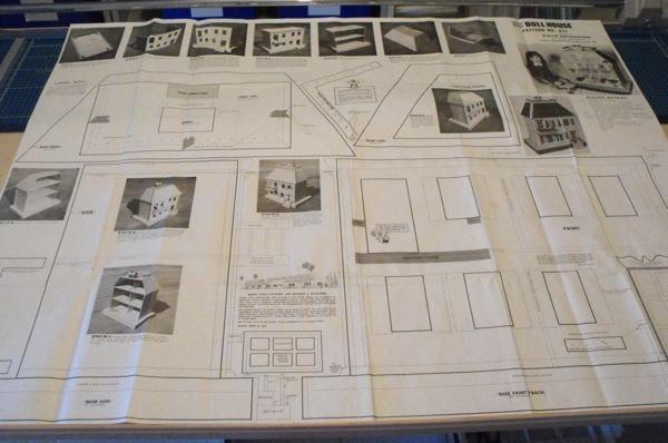 R-UBILD411+-+Open+Back+Doll+House+Vintage+Woodworking+Plan