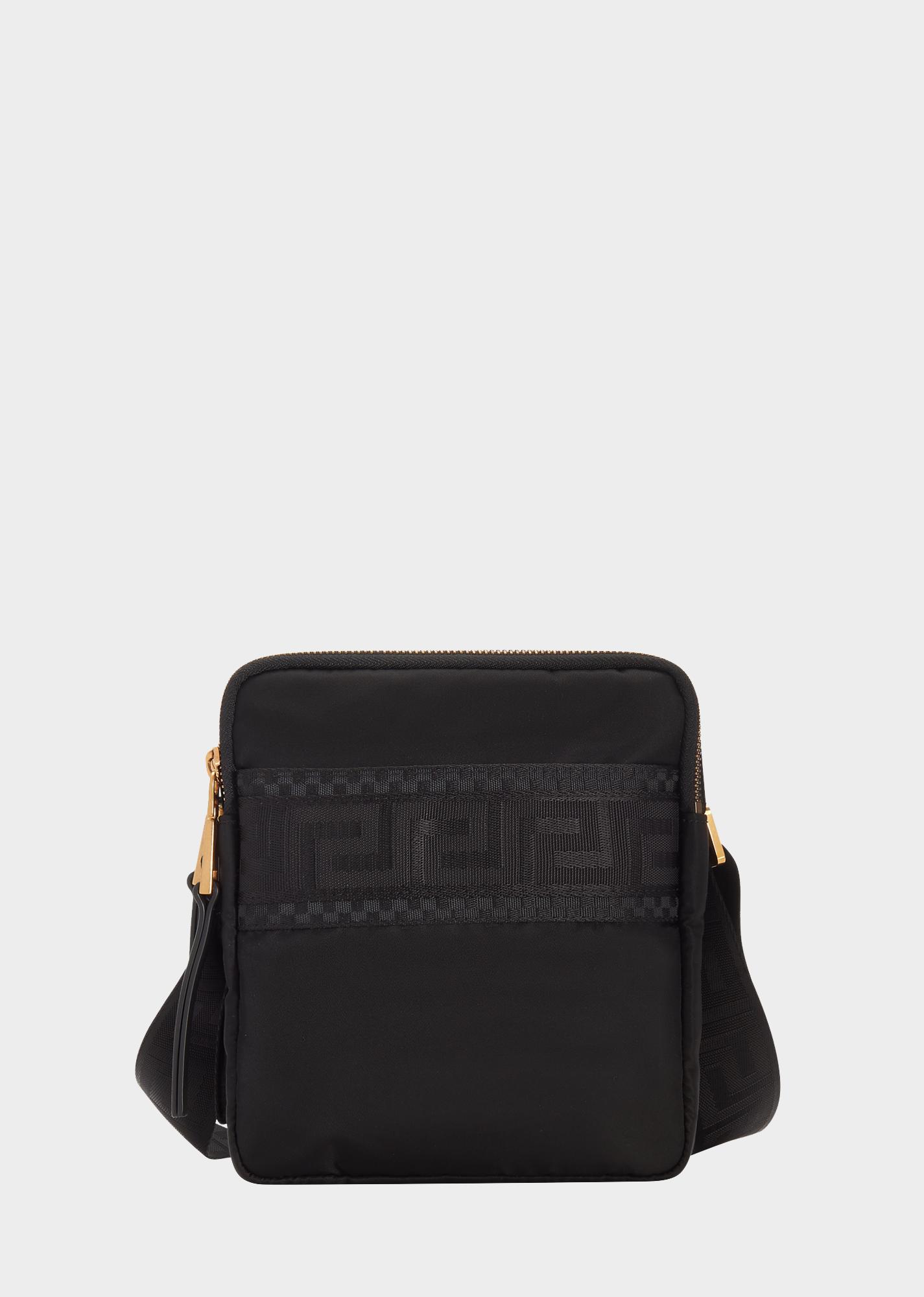 17f8462da3 VERSACE Greca Ribbon Cross Body Bag.  versace  bags  shoulder bags  leather   nylon  lining