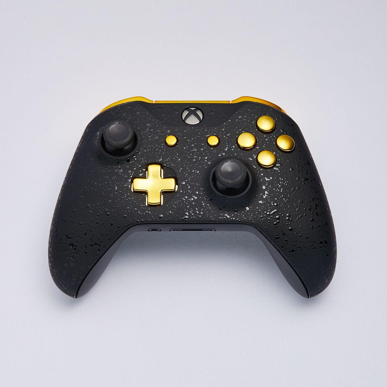 Xbox One Controller 3d Black Gold Custom Xbox One Controller Xbox One Controller Xbox One