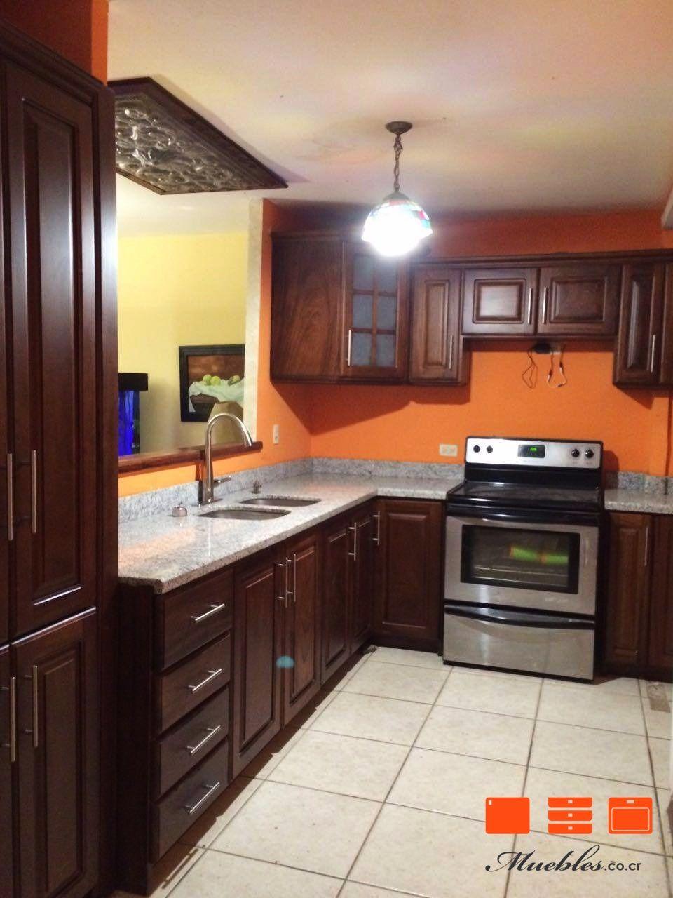 Mueble De Cocina Con Cocina Pileta Y Refrogerador Empotrados  # Muebles Fijos Especificaciones
