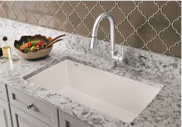 Blanco Silgranit Diamond Super Single Bowl Undermount Kitchen Sinks Composite Kitchen Sinks Best Kitchen Sinks