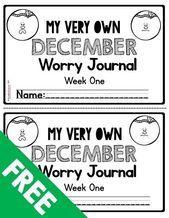 FREEBIE December Worry Journal