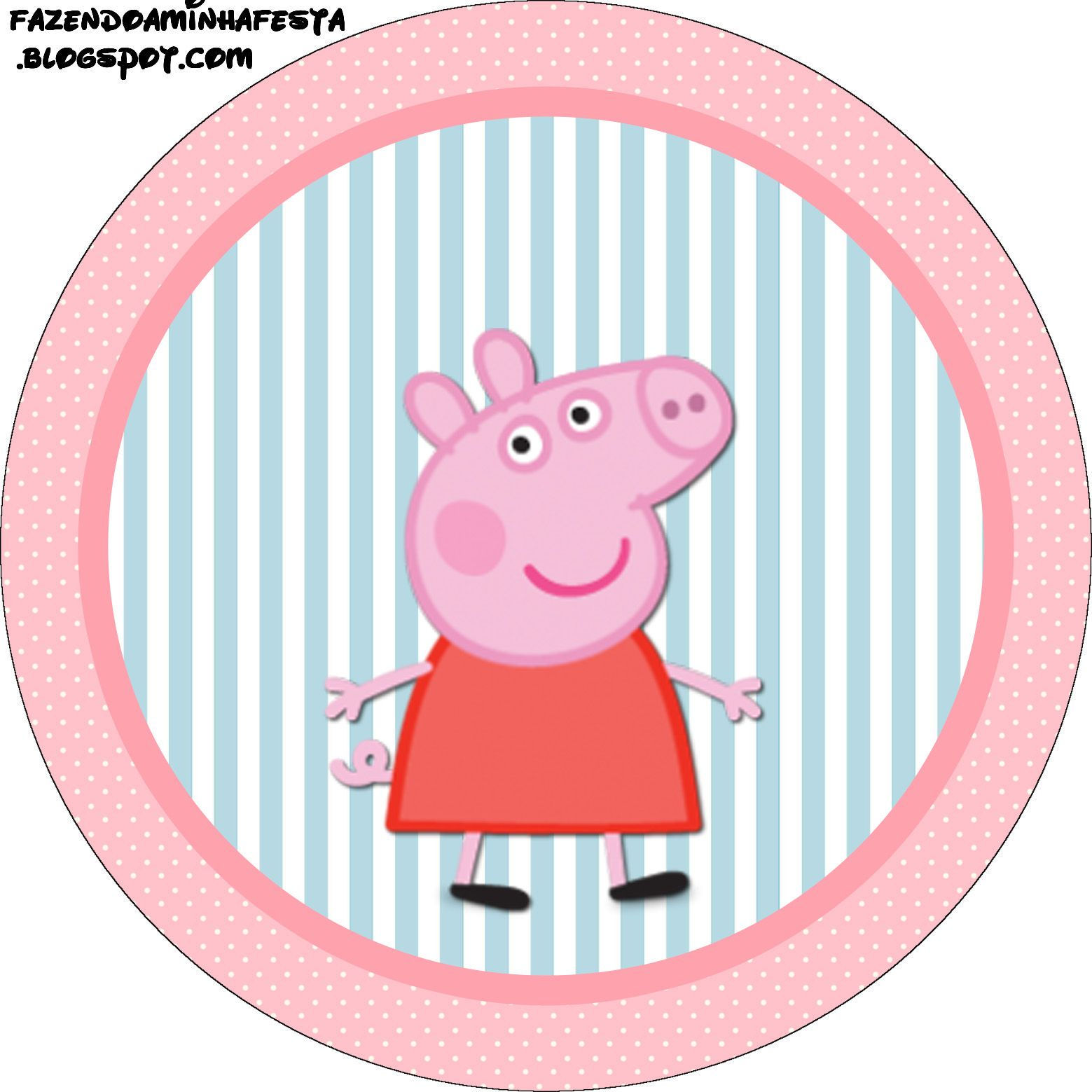 Peppa Pig Free Printable Labels And Toppers Peppa Pig Party