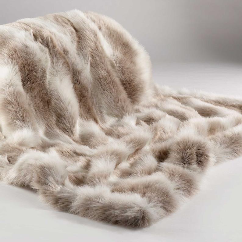 cream faux fur throw ragdoll large luxury throw bed etsy in 2021 faux fur throw blanket fur throw blanket fur throw