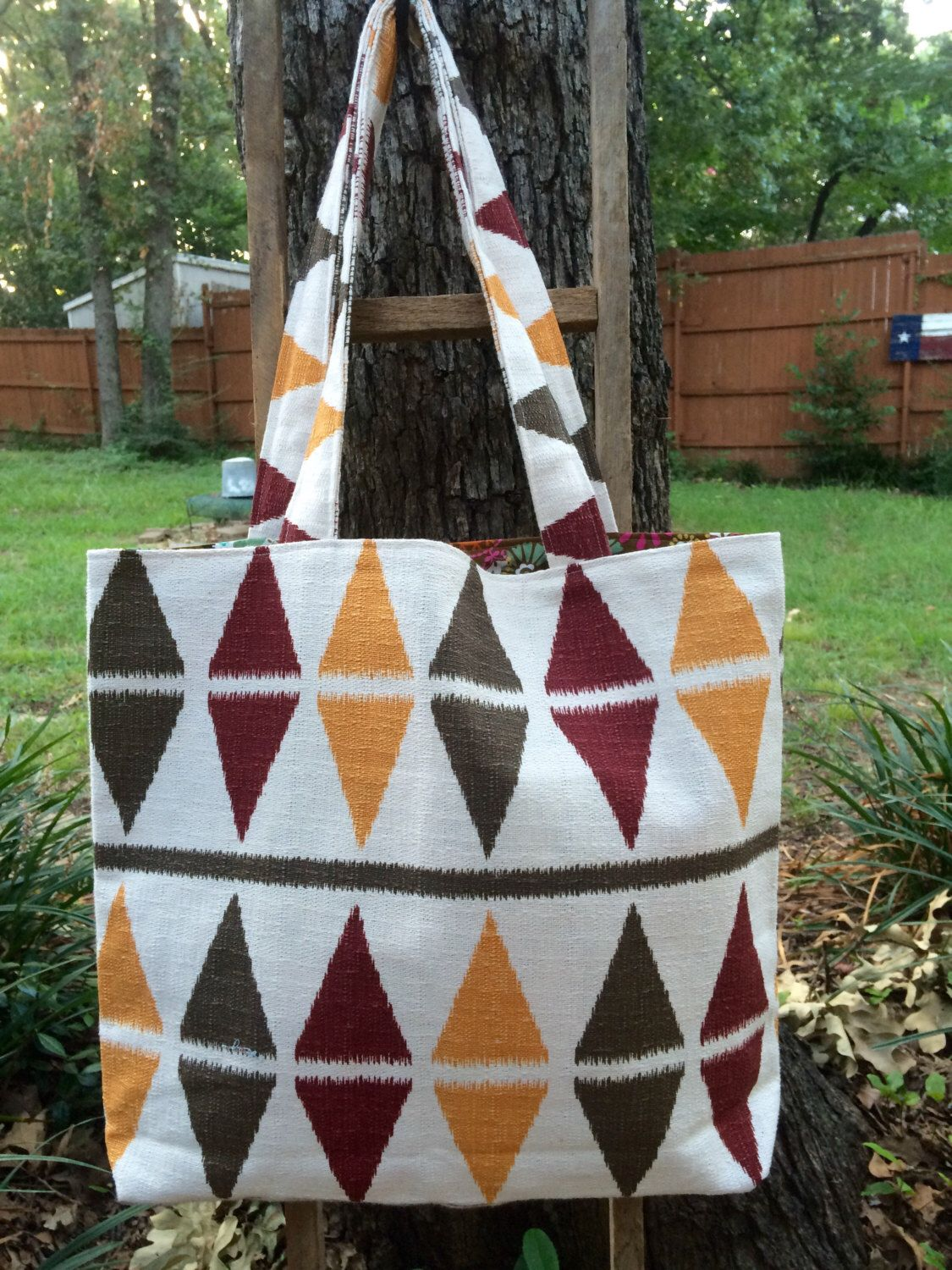 A personal favorite from my Etsy shop https://www.etsy.com/listing/470140453/fall-bag-cool-weather-bag-shopping-bag