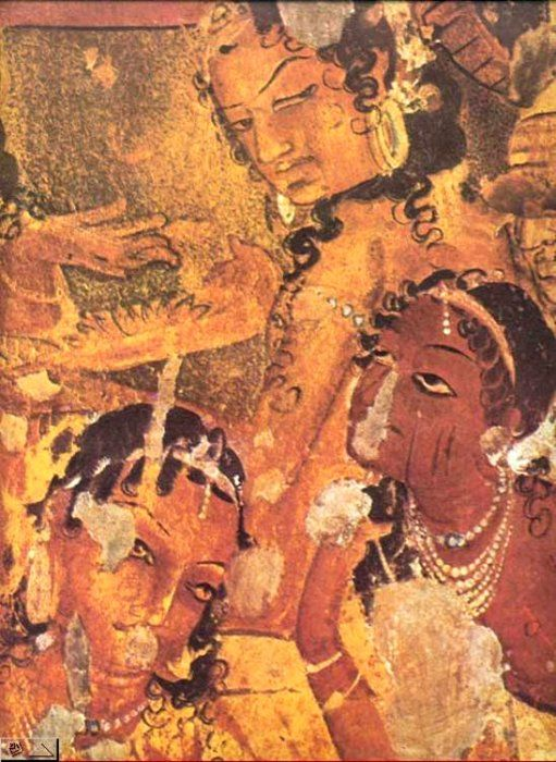 Ajanta cave paintings google search art pinterest for Buddha mural art