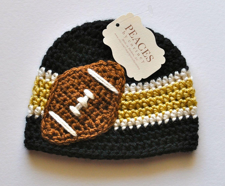 Pittsburgh Steelers Inspired Football Beanie Hat - Baby Hat 878b9804b