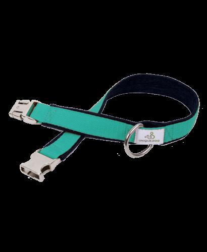 Hundehalsband aus Bio- oder Used-Denim und Gurtband | Handgemachtes ...