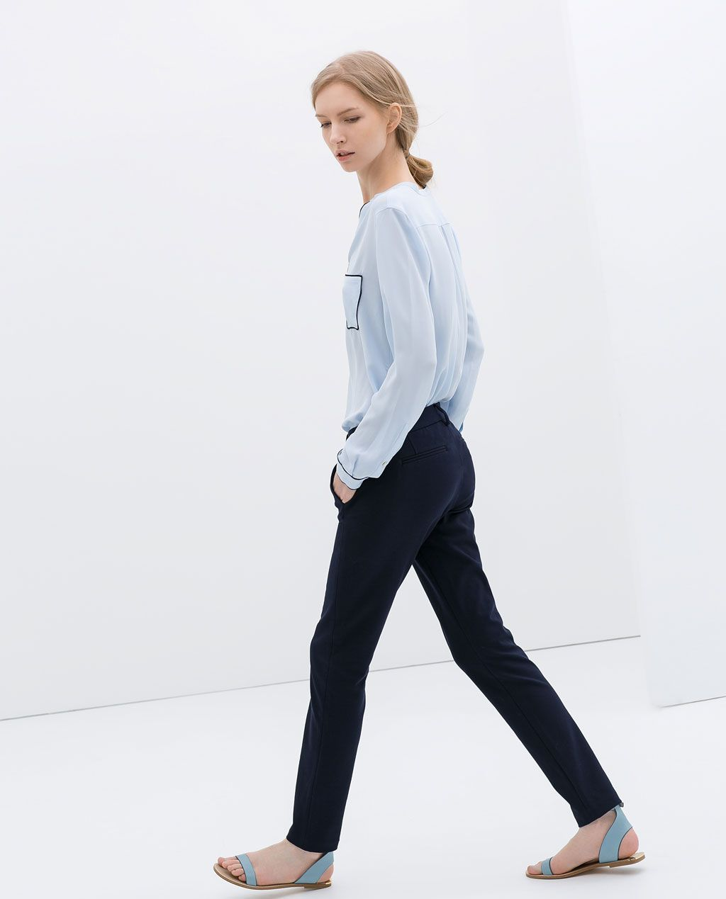 Image 3 of slim fit chinos from zara slim fit chinos
