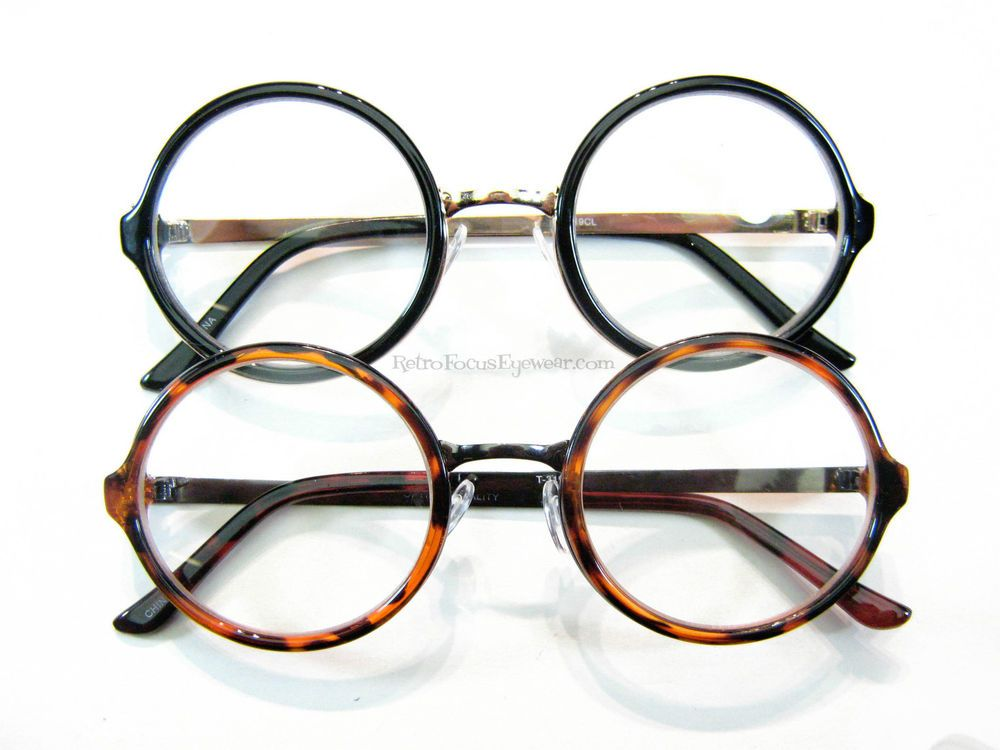Oversized Large Round Eyeglass Frames Wide Fashion UV Eyeglasses ...