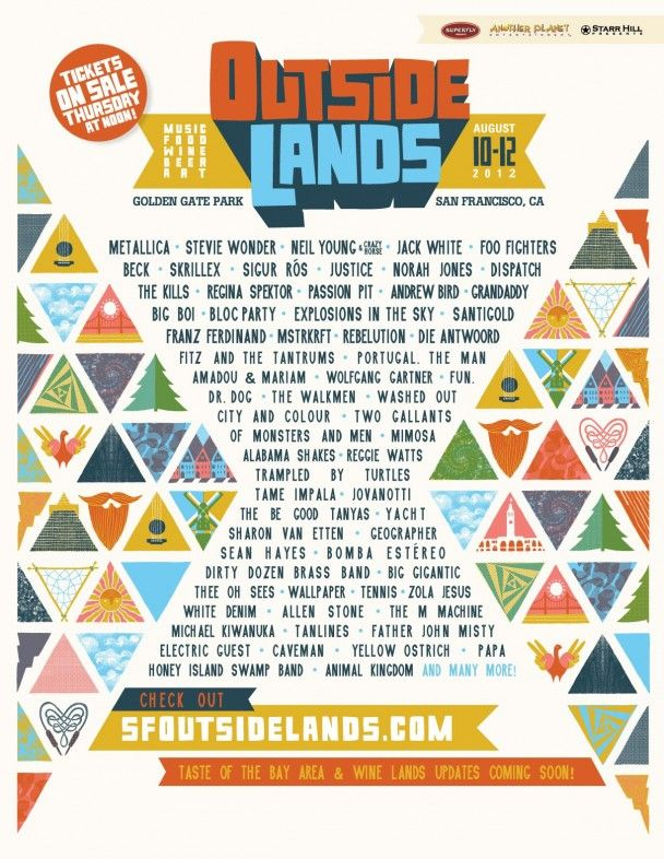 Outside Lands, August 8-10th 2012