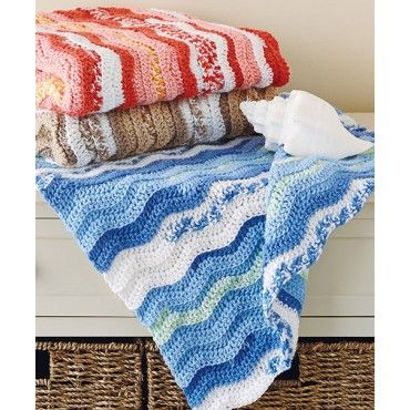 Mary Maxim - Free Rolling Ripple Blankie Pattern - Free Patterns ...