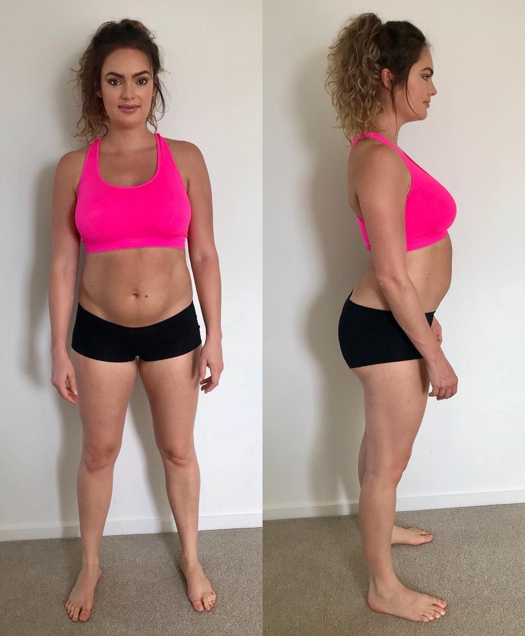 9edcc5b383 Emily Skye s 2-Second Transformation Makes an Important Point About  Postpartum Bodies - The fitness influencer wants women to know that  snapping back to ...