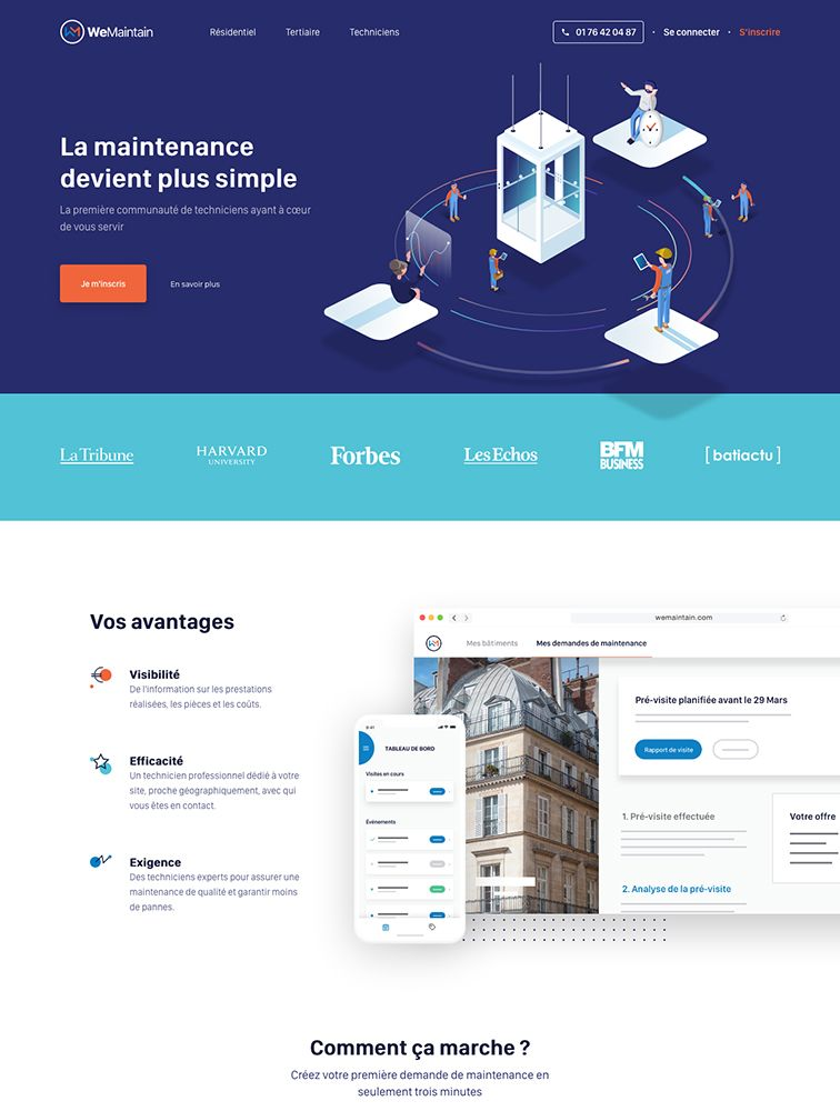 Wemaintain Landing Page Example Landing Page Design Page Design