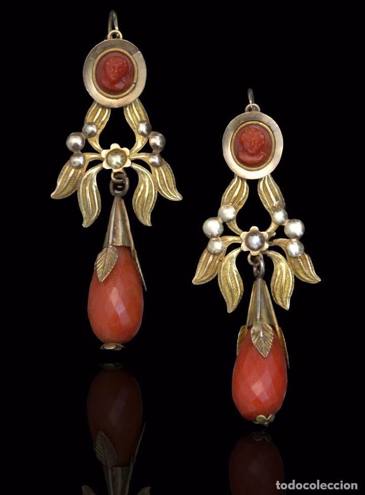 34b1613bc2de Elizabeth + Zippertravel. Preciosos y antiguos Pendientes de oro y ...
