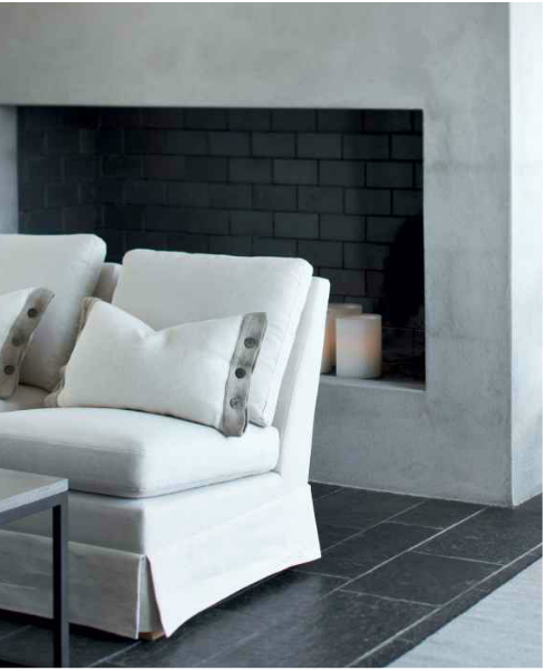 Concrete Fireplace Surround | CASA TRES CHIC