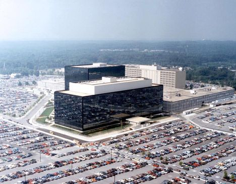 NSA-headquarters-in-Fort-Meade-Maryland. Unknown architect