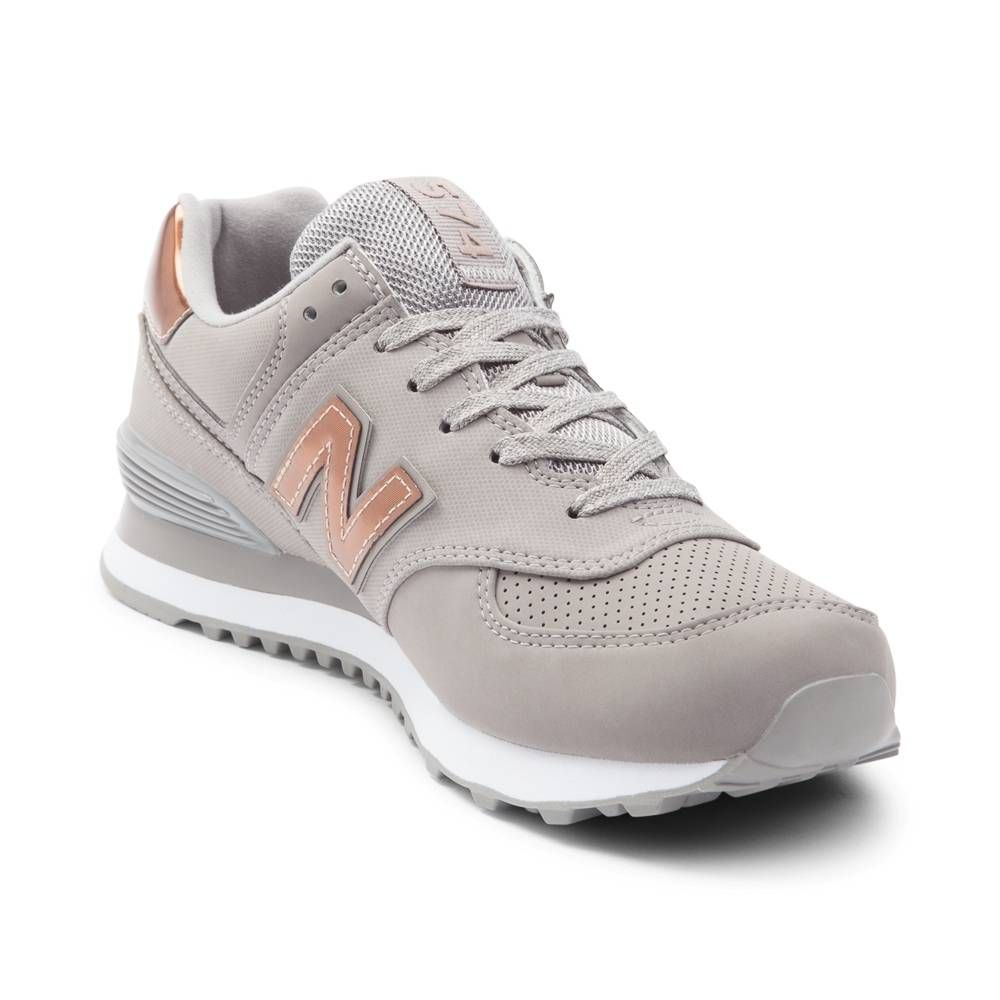 Womens New Balance 574 Athletic Shoe gray 401551