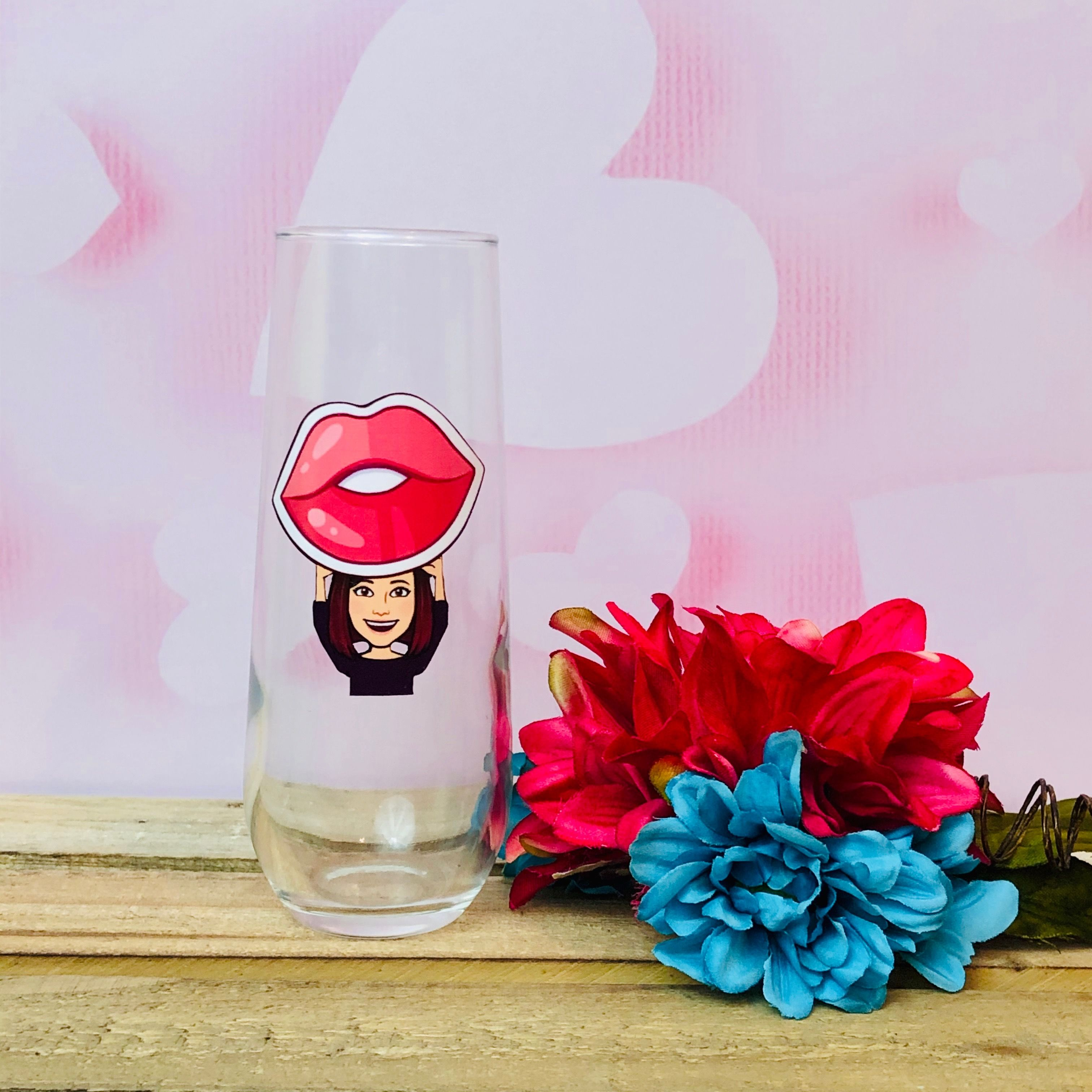 Stemless Champagne Glasses Really Are The Way To Go And This One Is Cute As A Button In 2020 Personalized Champagne Flutes Custom Champagne Flute Custom Wine Glass