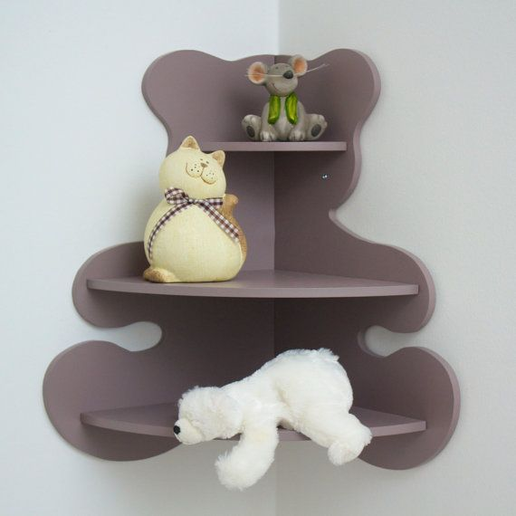 Bear-shaped corner shelf by GaranceEtLoulou on Etsy