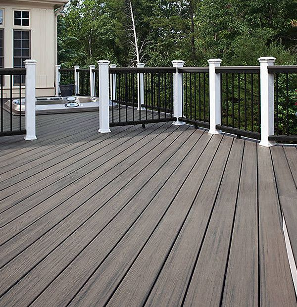 Trex Transcend Tropics Island Mist Squared 20 With Images Decks Backyard Building A Deck Outdoor Deck