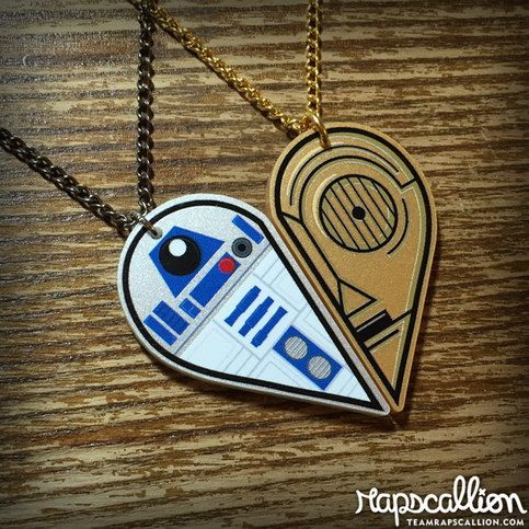 These two droids are the original besties, so it seemed only fitting for us to take their likenesses and create a symbol friendship for you and your best friend to wear.    Awww shucks, break out the tissue, I'm getting all sentimental.    - Based on our top selling hand sculpted necklace set - h...