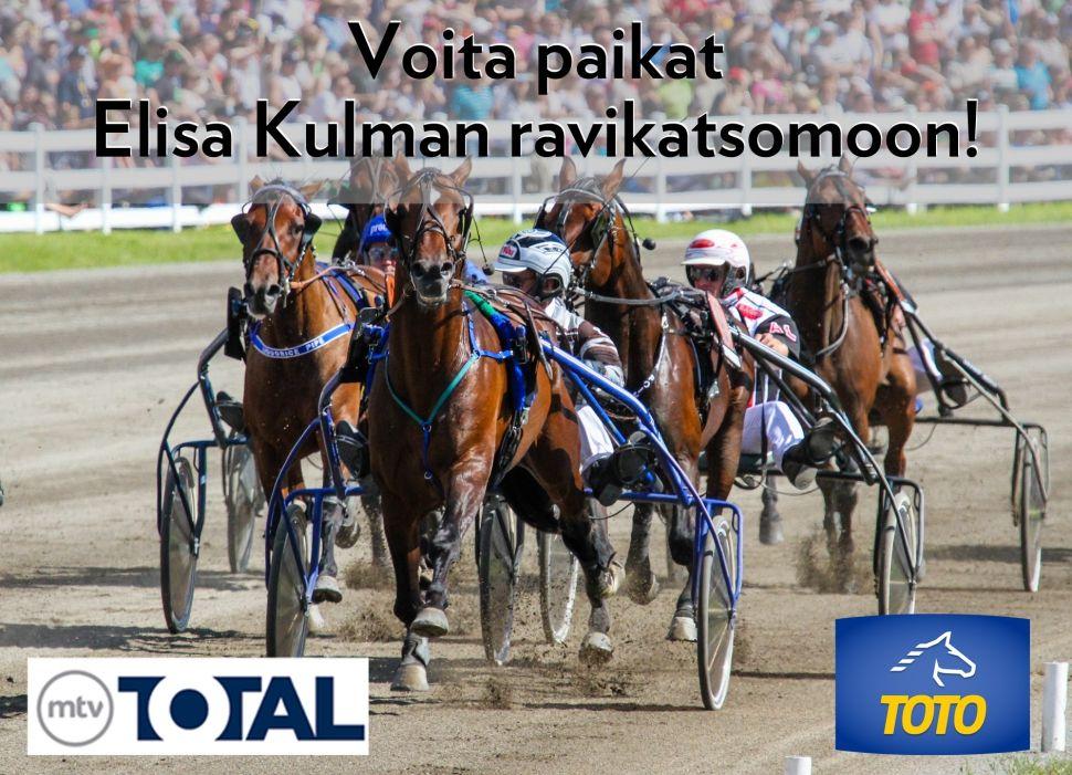 Osallistu kilpailuun ja voita paikat Elisa Kulman ravikatsomoon. Arvonta päättyy 2.11.2016 http://elisa-kampanja.sivuviidakko.fi/elisa-viihteen-kilpailut/vip-ravi-ilta.html