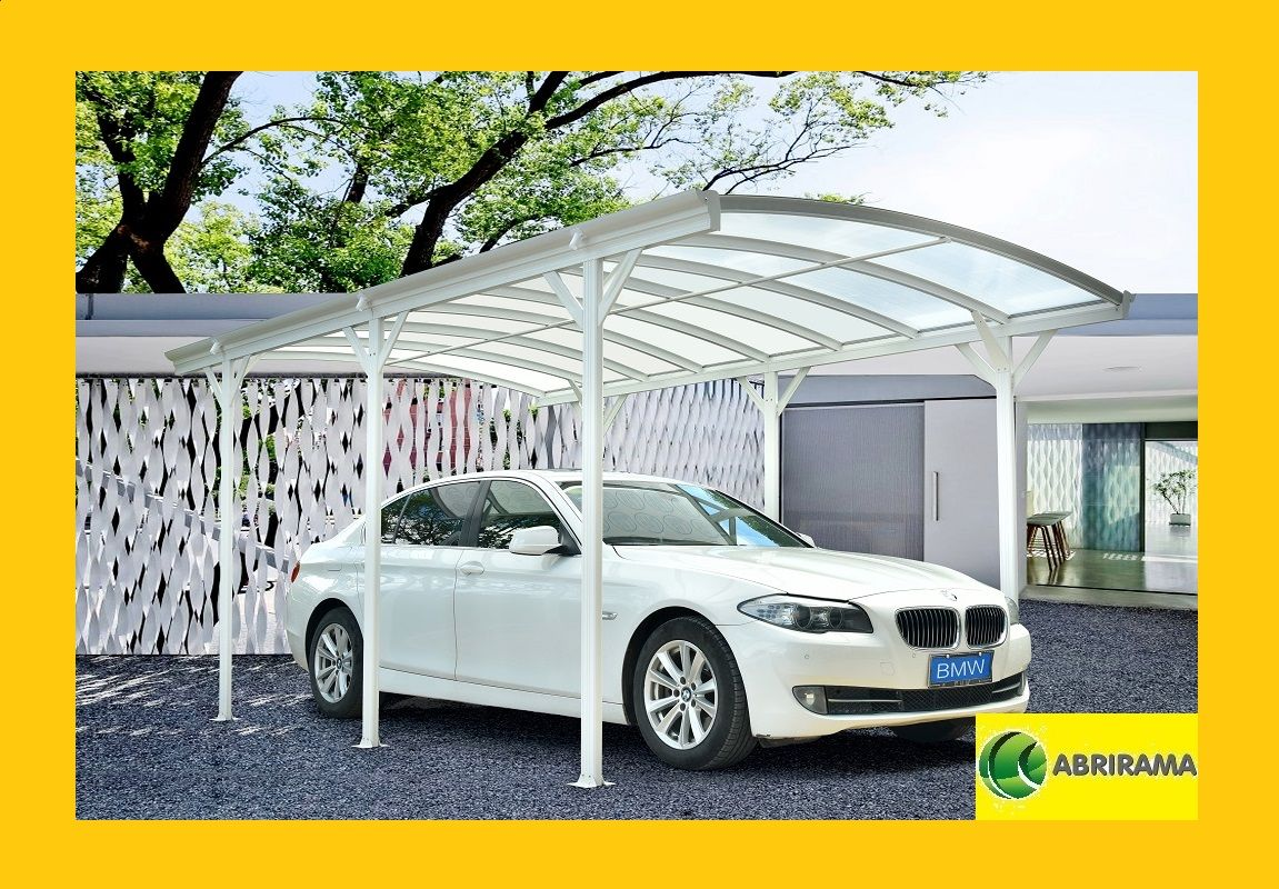 Carport Aluminium 5 76x3m Blanc Pour Grand Vehicule Carport Aluminium Carport Alu Pergola Aluminium