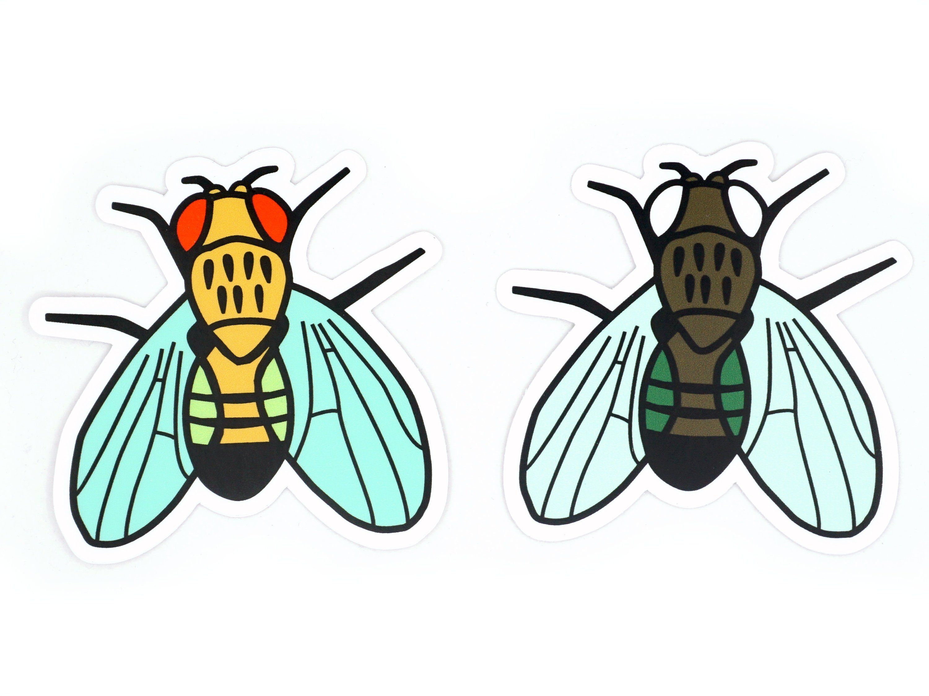 Fruit Fly Vinyl Stickers Drosophila Melanogaster Set