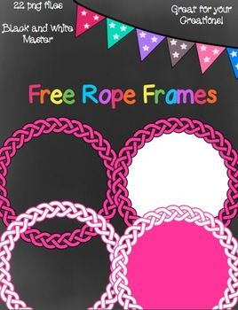Free Rope Frames- 22 png images | Clip Art for Teachers