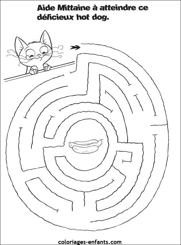 Jeux De Chiens Labyrinthe Enfant Labyrinthe Activite