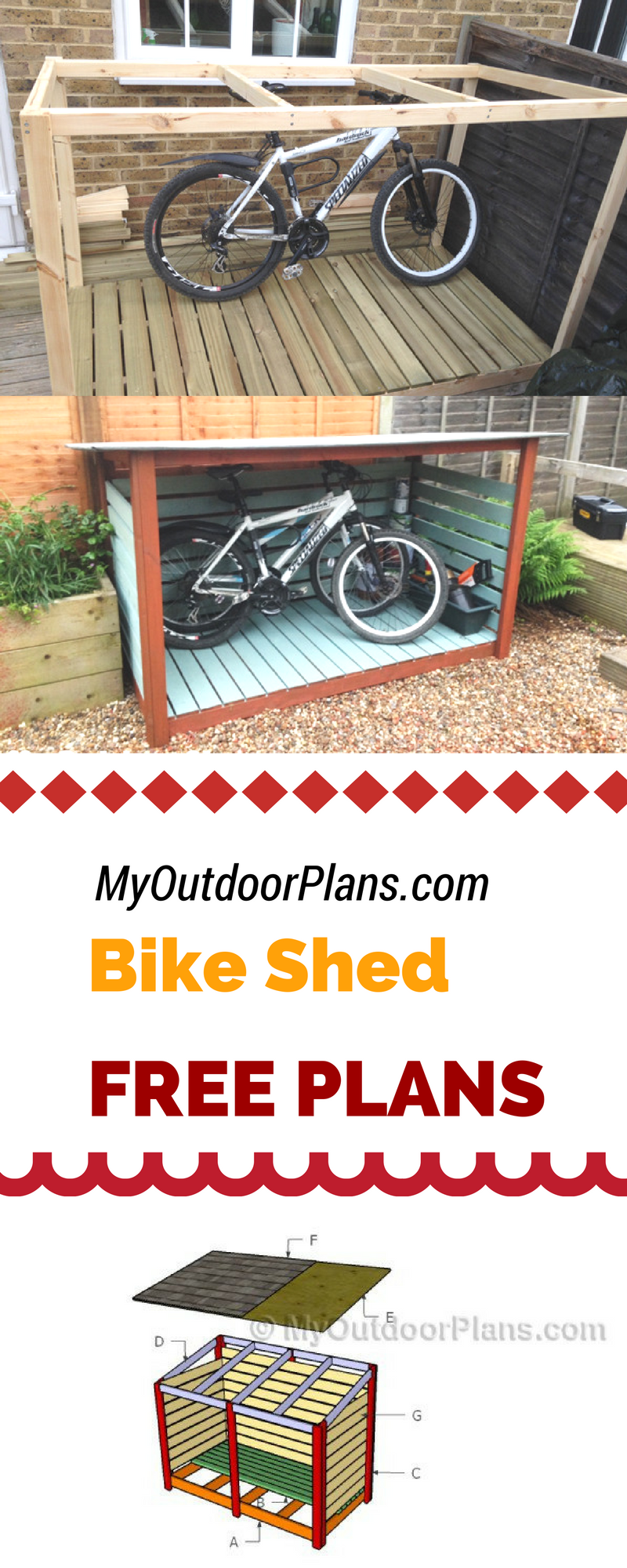 Learn how to build a bike shed using my free plans and ...