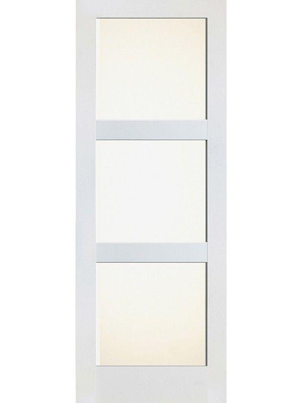 3 Lite Shaker White Interior Single Door W Matte Glass Sh 19