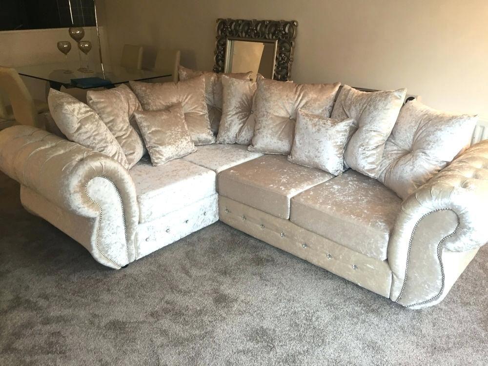 champagne crushed velvet sofa  crushed velvet sofa